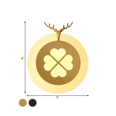 Elk Living Room Sconce Light Tradition Metal LED Brass/Black Wall Lighting Fixture
