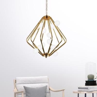Laser Cut Ceiling Chandelier Modernist Metal 12 Bulbs 18