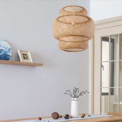 Modern Tiered Bamboo Pendant Lamp 15