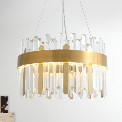 Circle Chandelier Lighting Modernist Crystal Led Gold Pendant Light Fixture For Dining Room Beautifulhalo Com