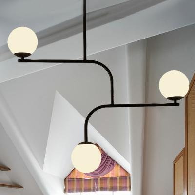 Art Deco Modo Pendant Lighting White Glass Indoor Hanging Chandelier Light for Restaurant