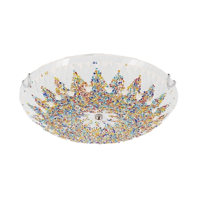 Bowl Flush Mount Light Fixture Mediterranean 12