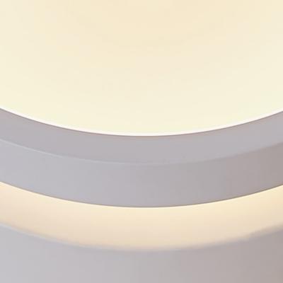 Acrylic Drum Flush Light Fixture Modern Acrylic LED Ceiling Mounted Light in Warm/White Light