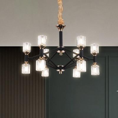 Crystal Rod Ceiling Light Fixture