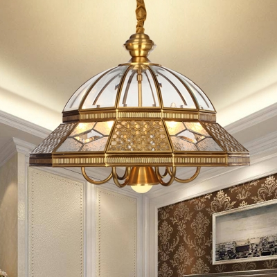 7 Bulbs Chandelier Light Fixture Colonialist Bedroom Hanging Lamp
