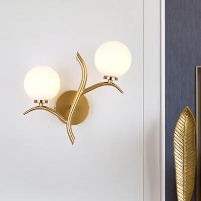 Metal 2 Bulbs Wall Mounted Lighting
