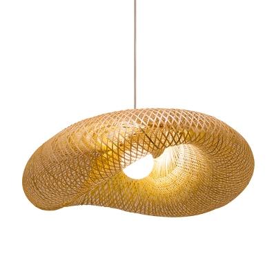 Modern Twist Hanging Light Kit Bamboo 16