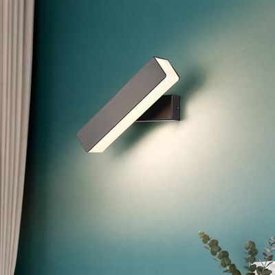 Rotatable Rectangle Wall Mount Reading Light Modern Metal Indoor Wall Sconce Light For Bedroom Beautifulhalo Com