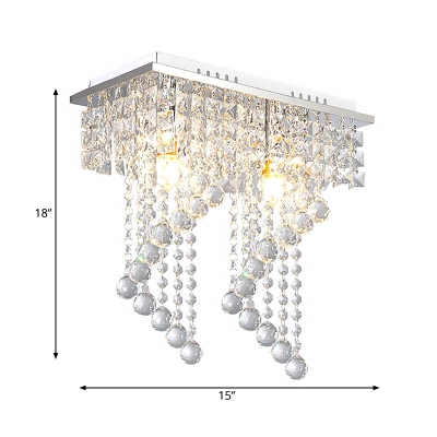Unique Arrow Semi Flush Mount Contemporary Crystal 1/2 Lights Ceiling Light Fixture for Balcony