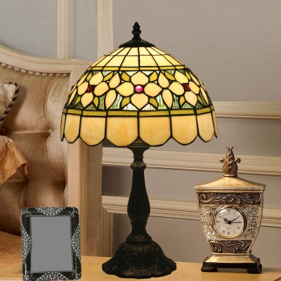 Bronze 1 Head Table Light Tiffany Handcrafted Stained Glass Butterfly/Star/Tulip Reading Light, HL579650