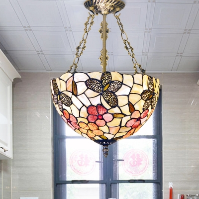 Flower Shell Semi Flush Lighting Mediterranean 12