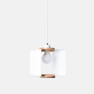Contemporary Cubic Metal Pendulum Light 1 Light Pendant Lighting Fixture in White/Grey for Dining Room