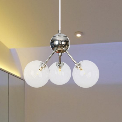 3/9/12-Head Restaurant Chandelier Light Fixture Industrial Amber/Clear/Smoke Gray Ceiling Lamp with Bubble Glass Shade, 13