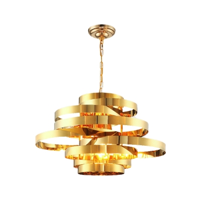 Circlet Dining Room Ceiling Chandelier Colonial Metal 6/8 Heads Gold Hanging Light Fixture