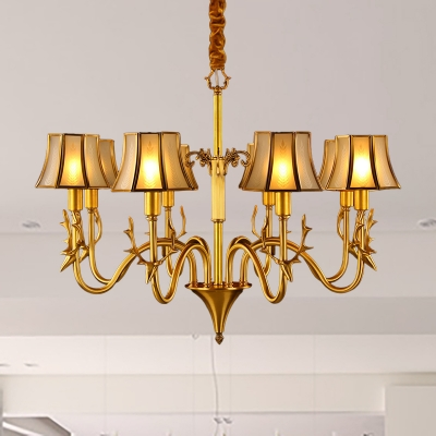 3/5/6 Bulbs Sputnik Ceiling Chandelier Colonial Gold Metal Hanging Light Kit with Elk