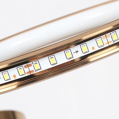 Gold Loop Hanging Chandelier Postmodern 8 Heads Metal Pendant Light Fixture, Warm/White Light