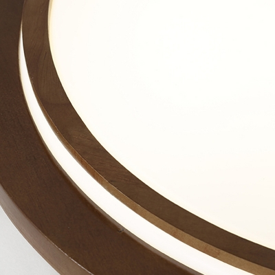 Wood Round Flushmount Contemporary 15