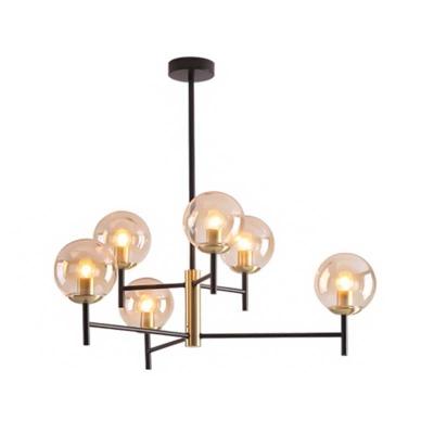 Global Chandelier Lighting 2 Tiers White Glass Mid Century Modern Hanging Light in Satin Brass