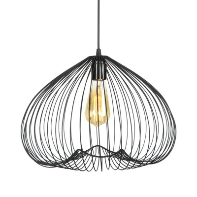 Metal Black Hanging Ceiling Light Cage 8