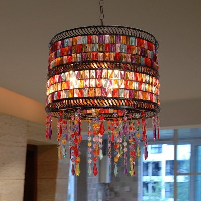 Drum Metal Chandelier Lighting Fixture