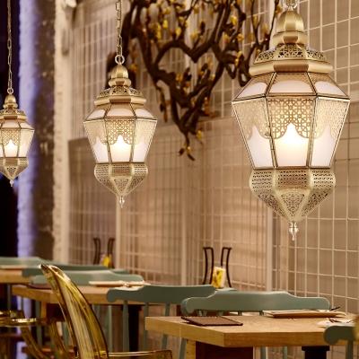 Brass Urn Ceiling Chandelier Antique Metal 2 Heads Dining Room Hanging Pendant Light