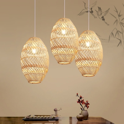 Asian 1 Head Bamboo Pendant Lighting
