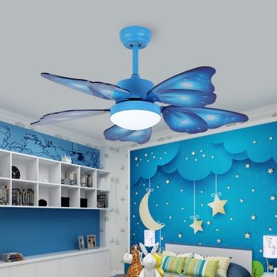 Kids Butterfly Wing Semi Flush Mounted Light 42