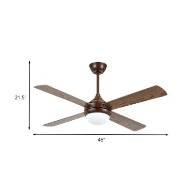 Traditional Onion Pendant Fan Light 45