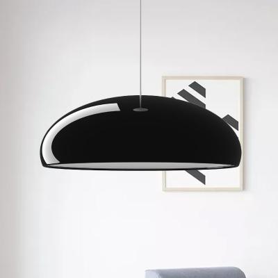 Modernist 1 Head Pendant Light with Aluminum Shade Black Bowl Hanging Ceiling Lamp