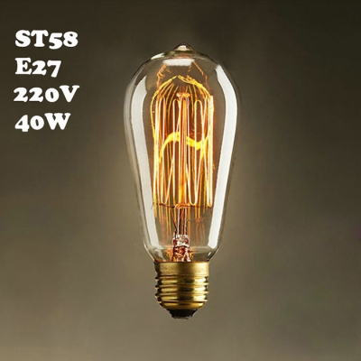 ST58 220V  E27 40W Edison Bulb 1pc