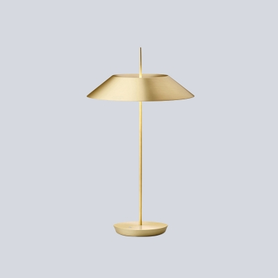 1 Head Living Room Reading Light Modern Gold Nightstand Lamp with Flared Metal Shade