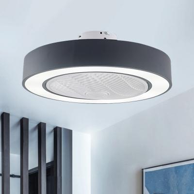 Minimalist Round Hanging Fan Lamp 23