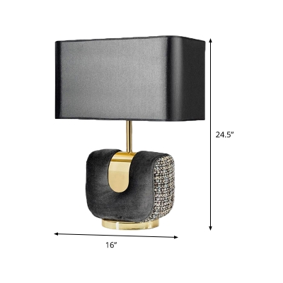 Rectangular Task Lighting Modern Fabric 1 Head 14