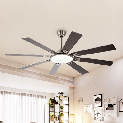 Retro Round 8 Blades Hanging Ceiling Fan Lamp 60