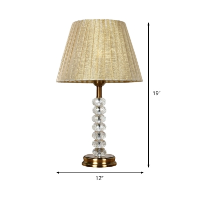 Wide Flare Task Lighting Contemporary Fabric 1 Bulb Reading Book Light in Beige