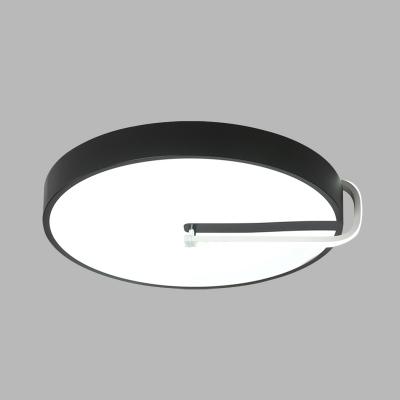 Drum Metal Flushmount Lighting Simple 16