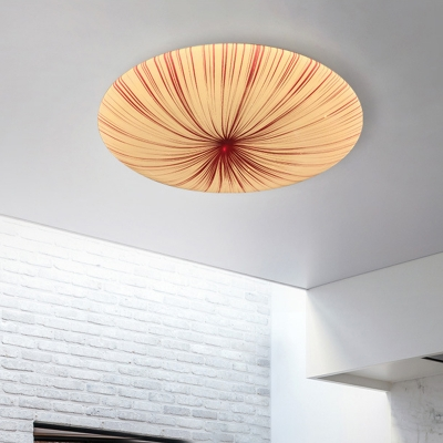 Acrylic Round Ceiling Mounted Light Contemporary Red LED Flush Mount Lamp for Restaurant in Warm/White Light, 12