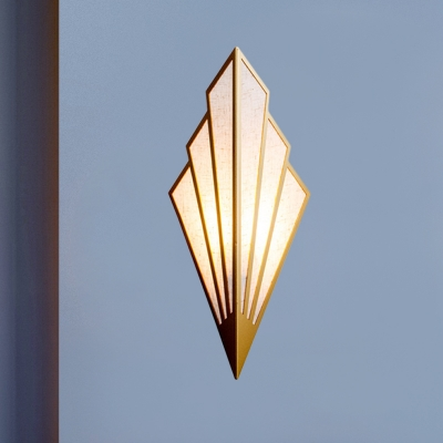 Simplicity Geometric Metal Wall Lamp 1 Head Wall Sconce Lighting in Gold for Living Room