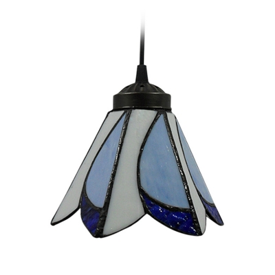7 Inch Width Shade Tiffany Style Stained Glass Mini Pendant Light