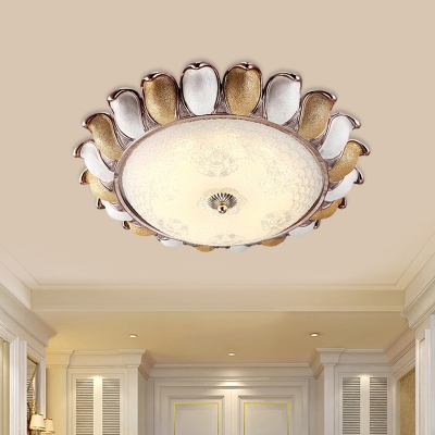 Floral Metal Flush Mount Fixture Country 14