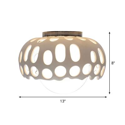 Dome Flush Mount Ceiling Light Modernist Acrylic 11