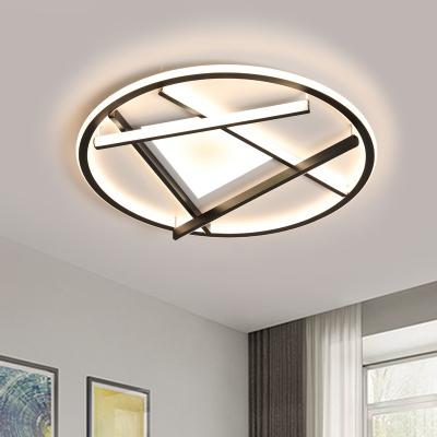 Circular LED Ceiling Mounted Fixture Simplicity Acrylic 16