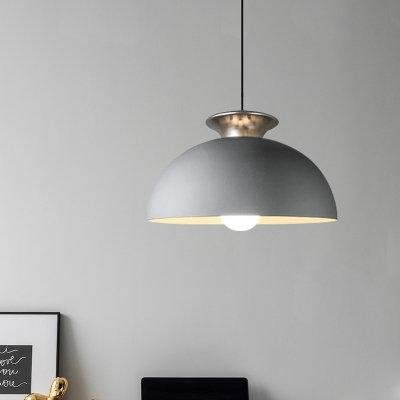 Beautifulhalo coupon: 1 Bulb Aluminum Suspension Light Vintage White/Grey Finish Bowl Restaurant Hanging Ceiling Lamp