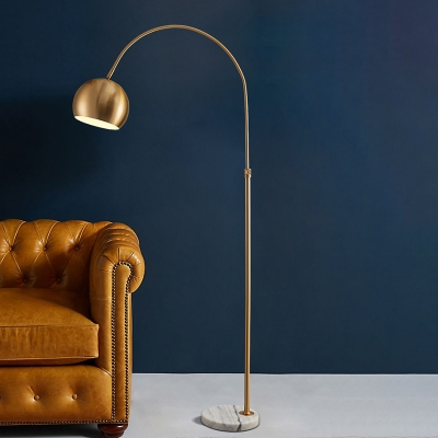 Domed Metal Reading Floor Lamp Post, Floor Lamps For Reading Contemporary