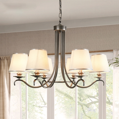 Barrel Fabric Hanging Light Kit, Traditional Dining Room Chandeliers