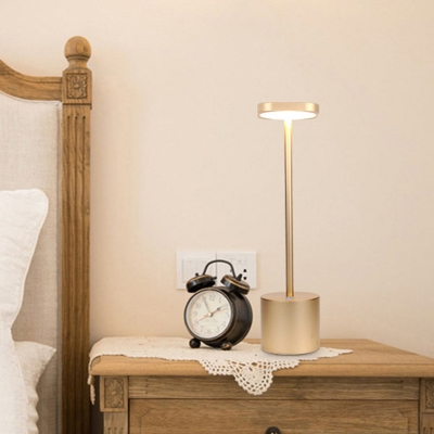 Squared Metallic Reading Book Light Contemporary LED Gold Night Table Lamp for Dining Table