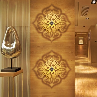 Nordic Style Flower Wall Sconce Light Wood 1 Light Corridor Wall Mounted Lamp Fixture