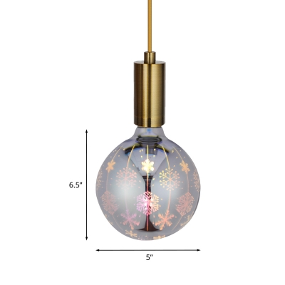 1pc 3D Snowflake/Firework Ball E27 Bulb Plastic White and Grey 4 W 12 Beads LED Lighting in Multicolored Light
