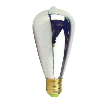 3 W E27 3D Firework Edison Bulb 1pc 12 LED Beads Replacement Bulb with Gold/Silver Plastic Shade
