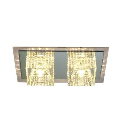 Cube Flush Mount Lighting Minimalist Clear Crystal LED Corridor Flush Ceiling Lamp Fixture
